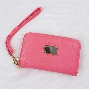 Handbags - Pink zip around wristlet/wallet